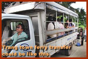 Transfer from Trat to pier Laem Sok