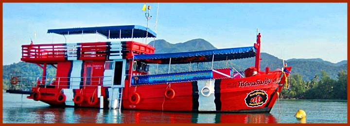The dive vessel on Koh Chang