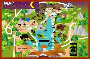Map Night Zoo Chiang Mai
