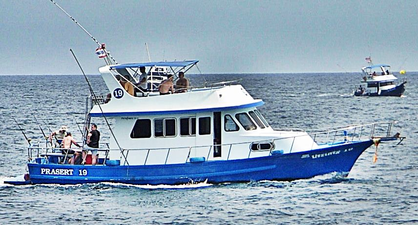 Game Fishing boat of the coast of Phuket