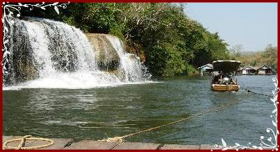 Waterfall near River Kwai Jungle raft